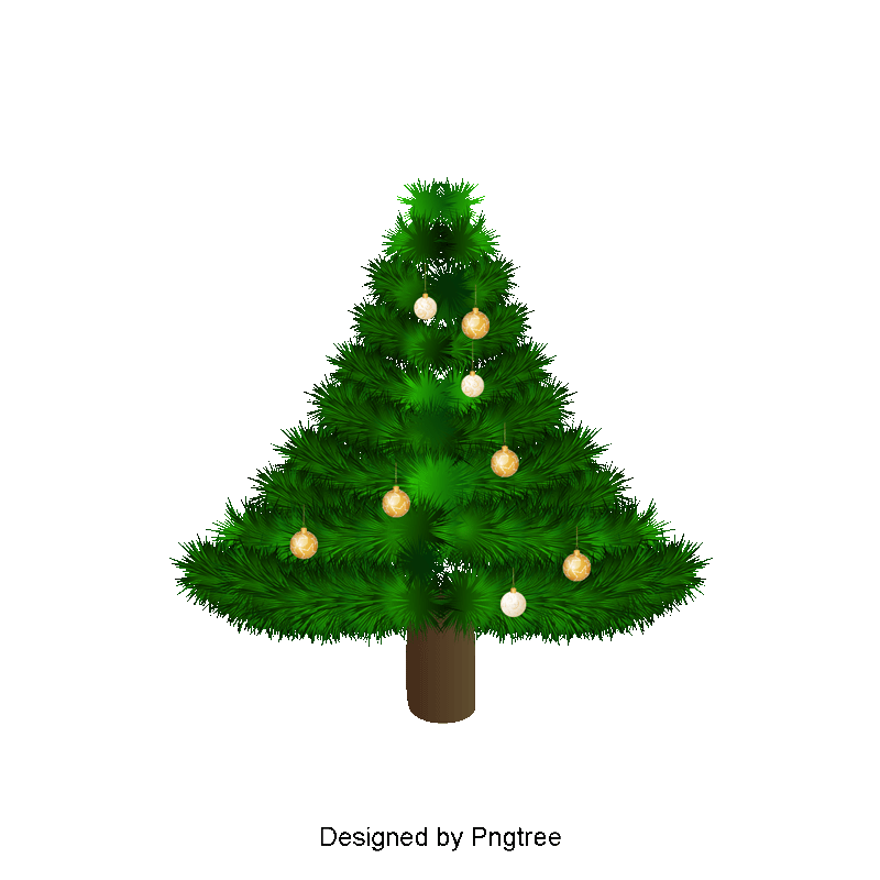 Real palm tree with christmas ornaments png free. Vector hand painted clipart