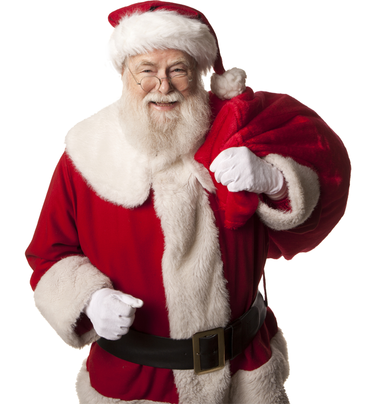 Vector santa body. Free claus png transparent
