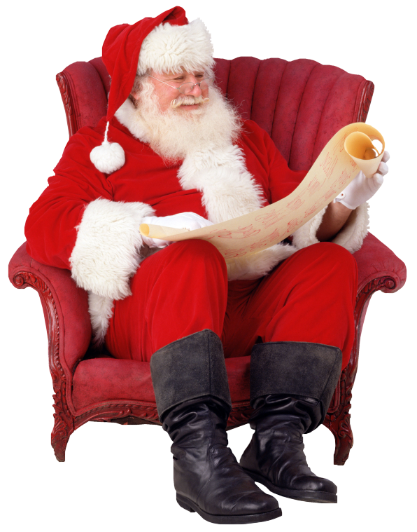 Real santa png. Touching hearts claus is