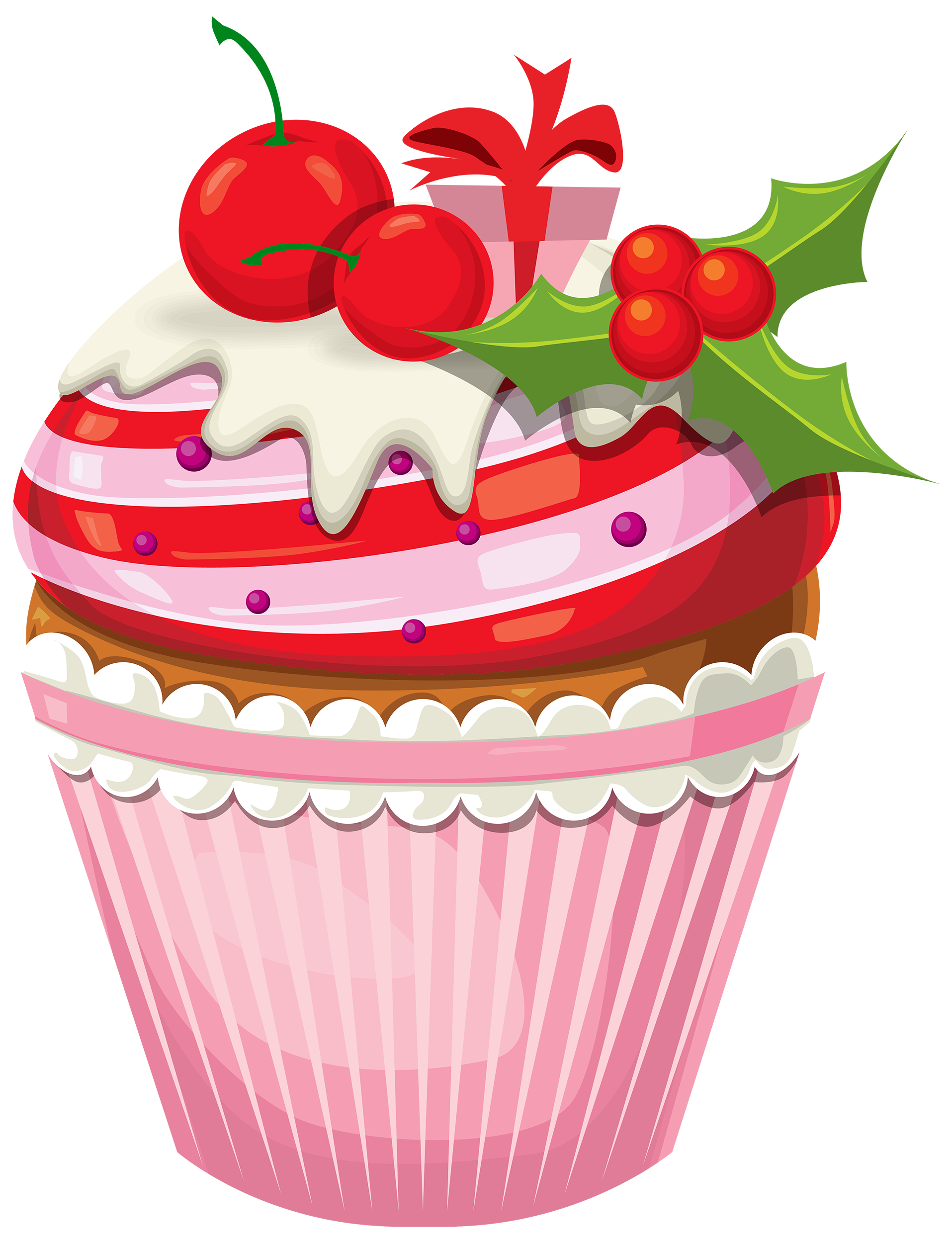 Christmas png best web. Realistic clipart cake vector free