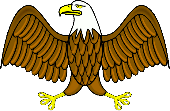 Spread clipart. Eagle with wings