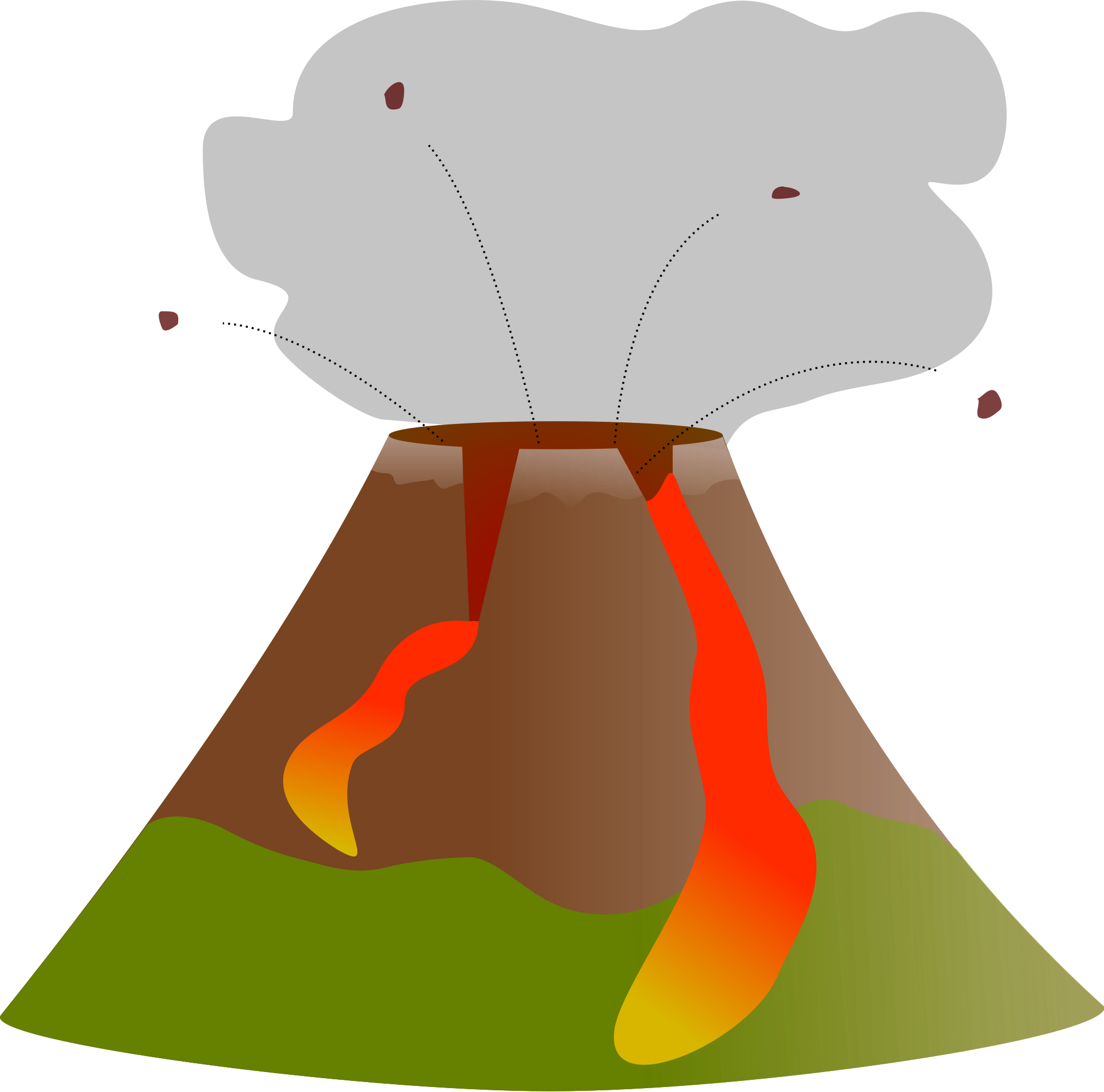 volcano clipart volcanic eruption