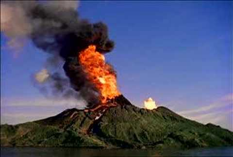 Realistic clipart volcano. Erupting youtube