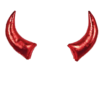 Realistic devil horns png. Collection of free