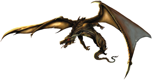Realistic dragon png. Five isolated stock photo