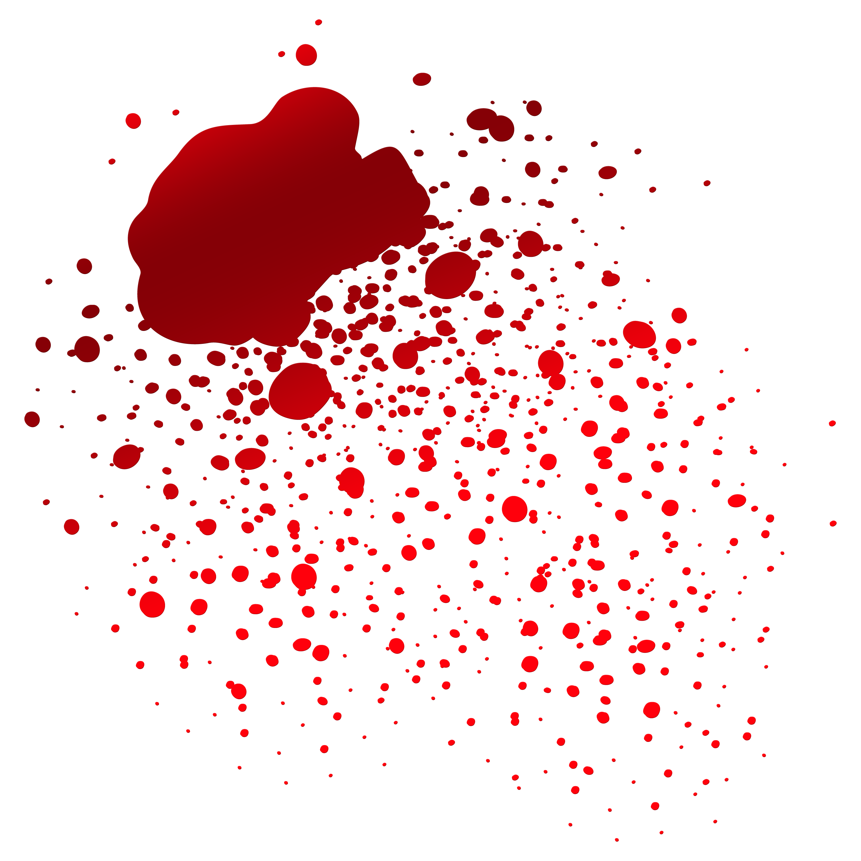 Realistic dripping blood png. Download free transparent image