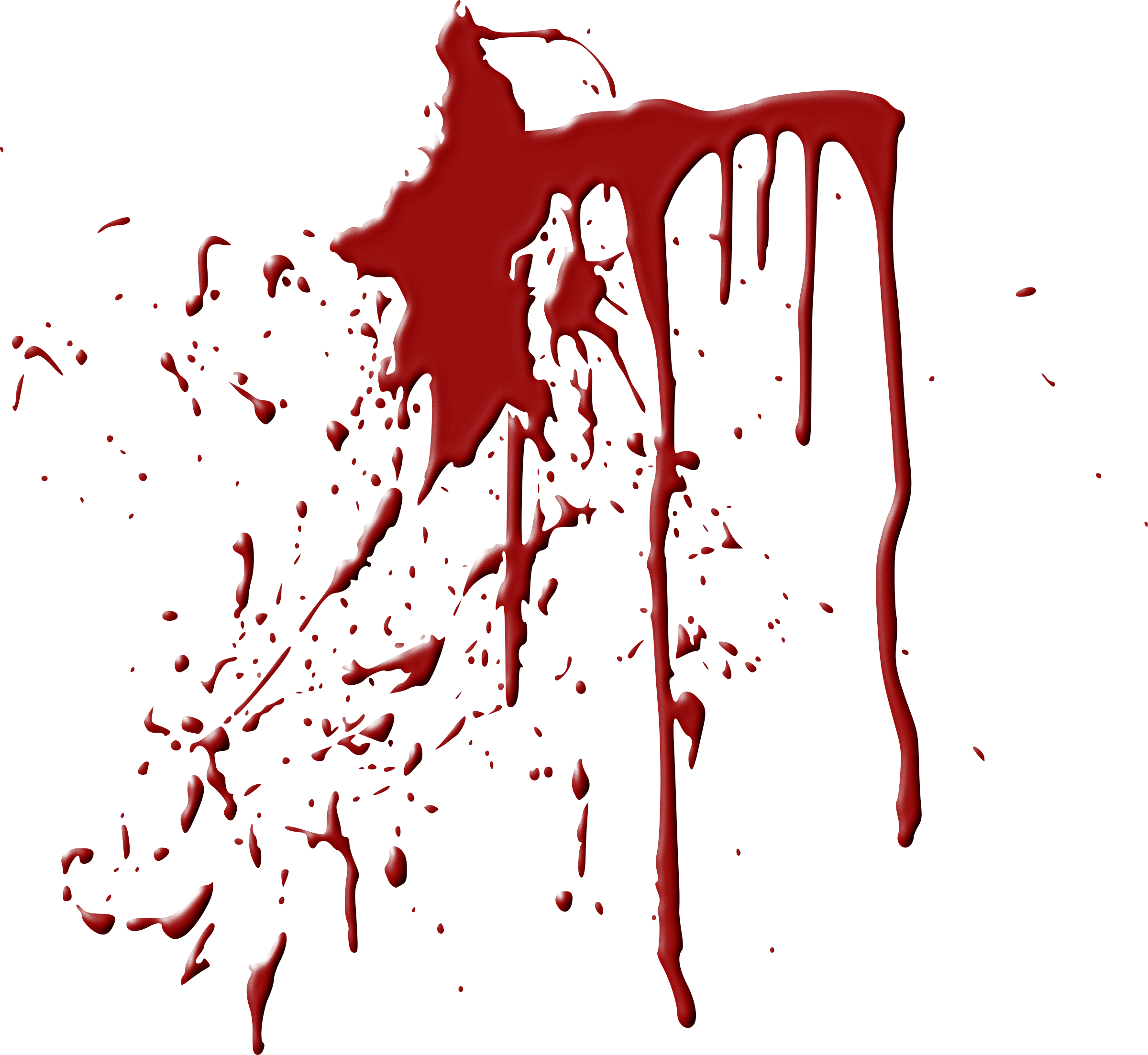 Realistic dripping blood png. Transparent images all clipart