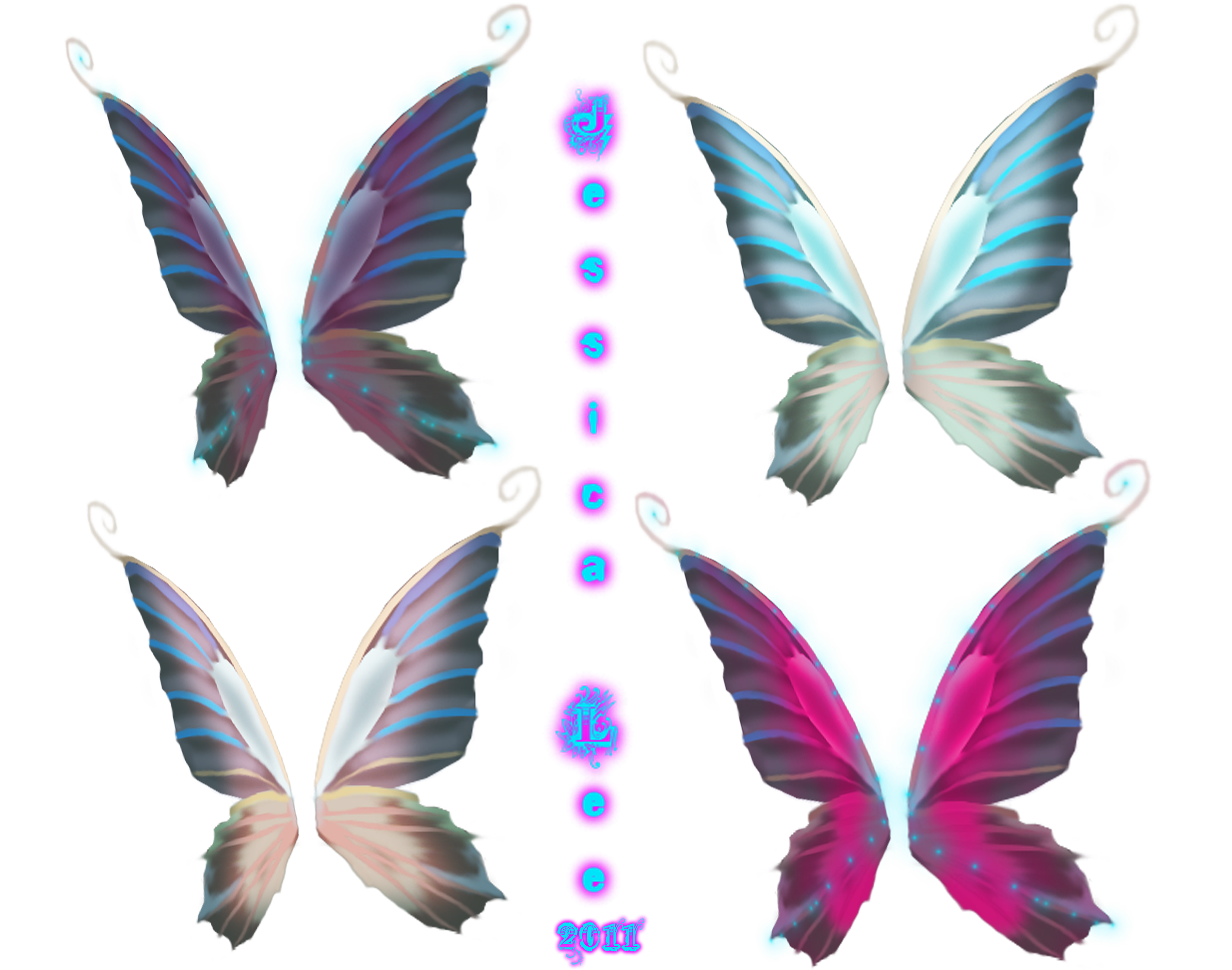 Realistic fairy wings png. Faerie set by daftopia