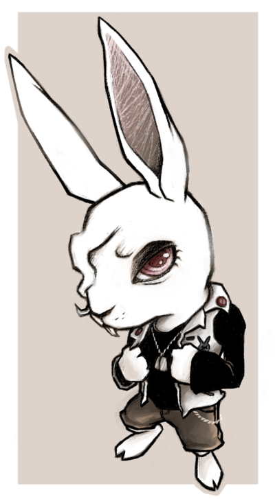 Rebel drawing cute. Rabbit by figbeater on