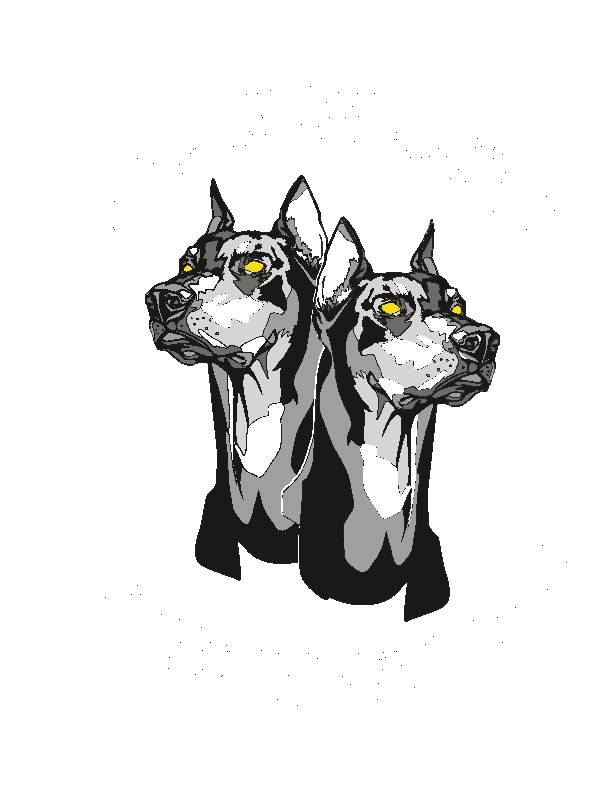 Deadwood dobermans . Mad drawing rottweiler clip art library stock