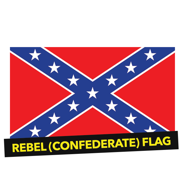 Rebel drawing flag confederate. A brief history the