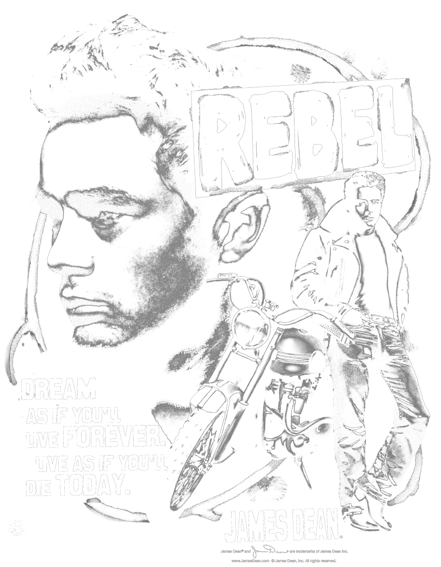 Rebel drawing hooded. James dean cover pullover