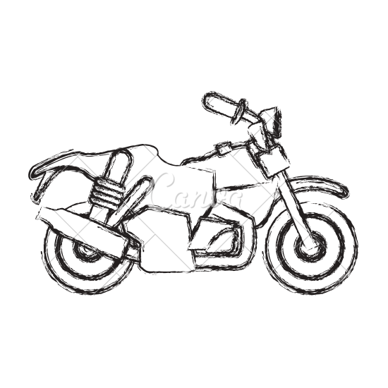 Rebel Drawing Motorcycle Transparent Clipart Free Download