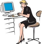 Free and vector graphics. Receptionist clipart jpg
