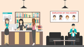 Receptionist clipart office lobby. Reception stock illustrations at picture library library