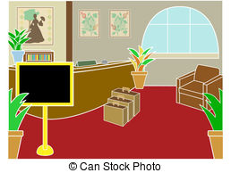 Reception and stock illustrations. Receptionist clipart office lobby clip art library stock