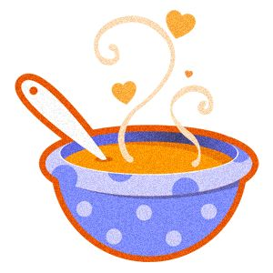 Recipe clipart warm soup. Family plus food equals