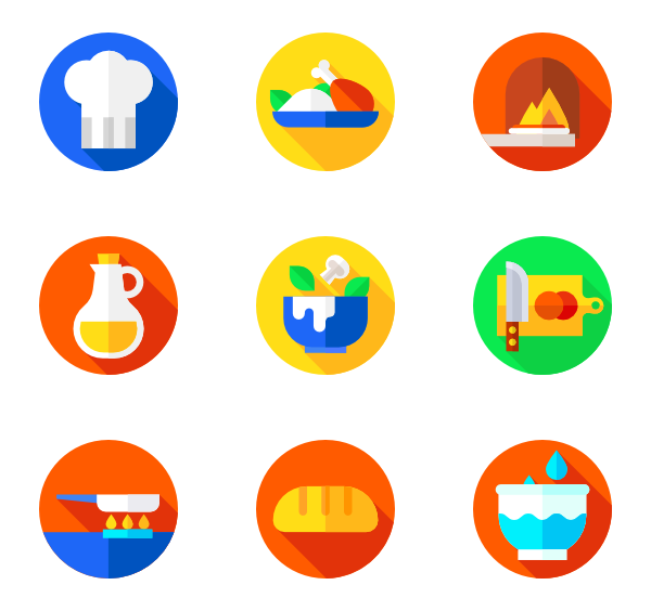 Recipe vector. Icons free cooking