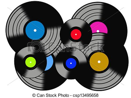 Record clipart. Records jpg black and white library