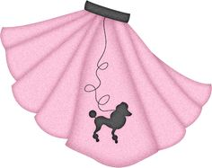 Record clipart poodle skirt. Silhouette online store view