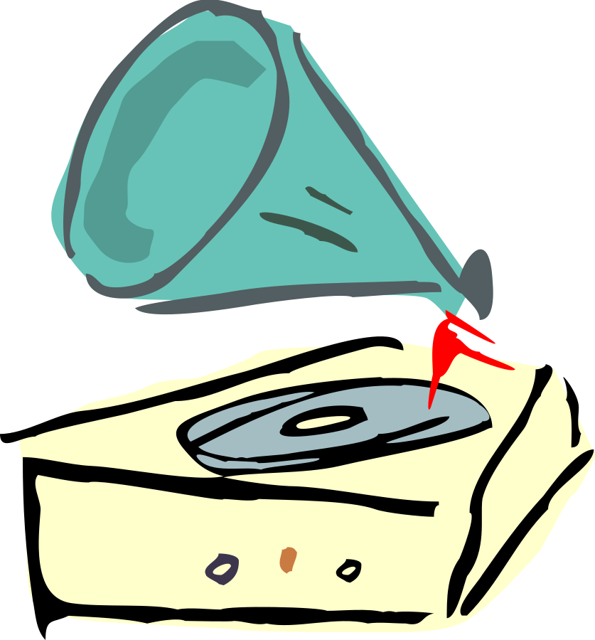 Vector record cartoon. Free player cliparts download