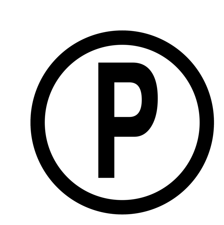 Recording sign png. Sound copyright symbol and