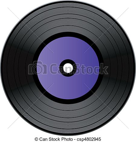 Record clipart vinal. Vector vinyl over white picture freeuse download