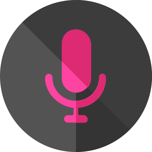 Recording icon png. Voice page svg