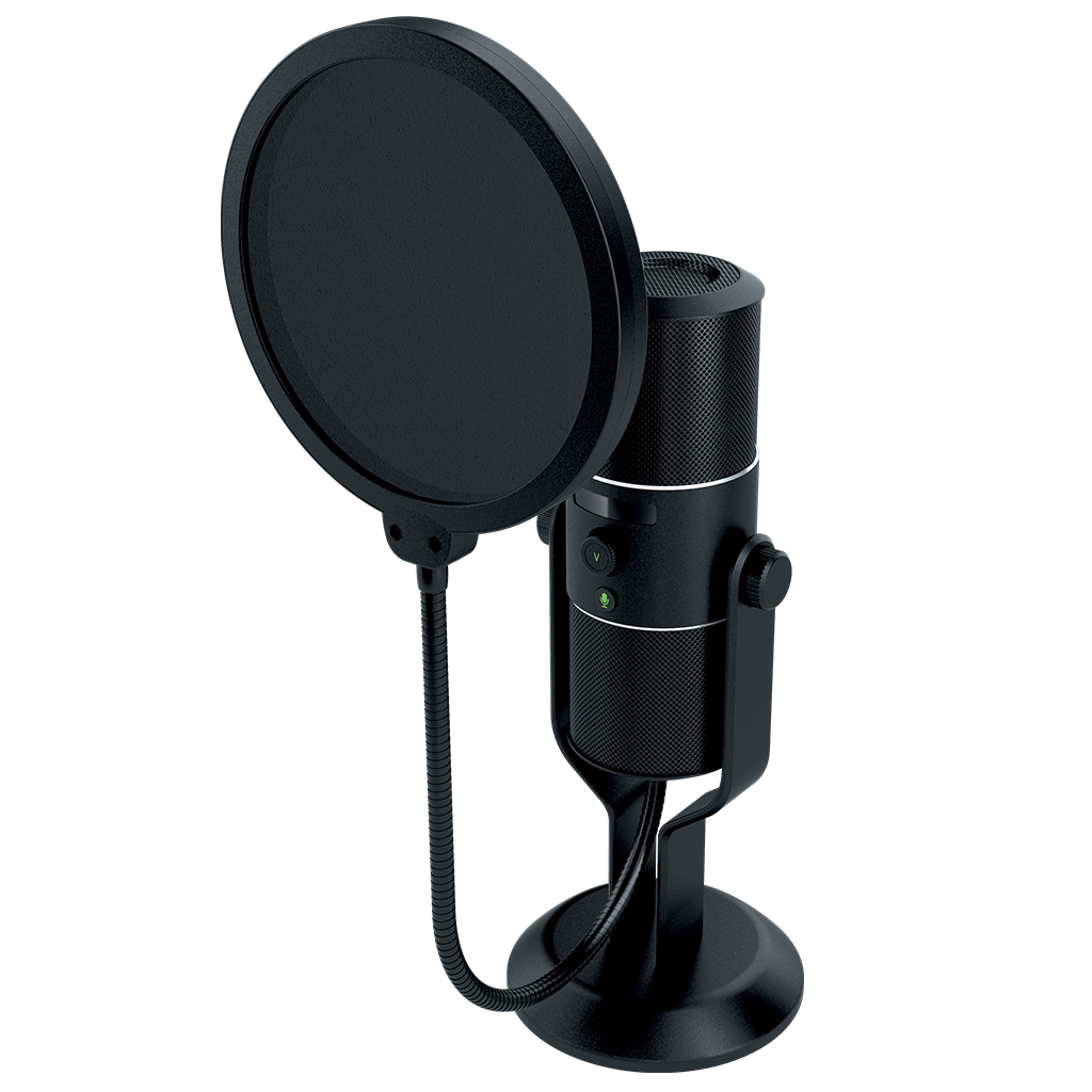 Recording microphone with stand png. Razer seiren usb digital