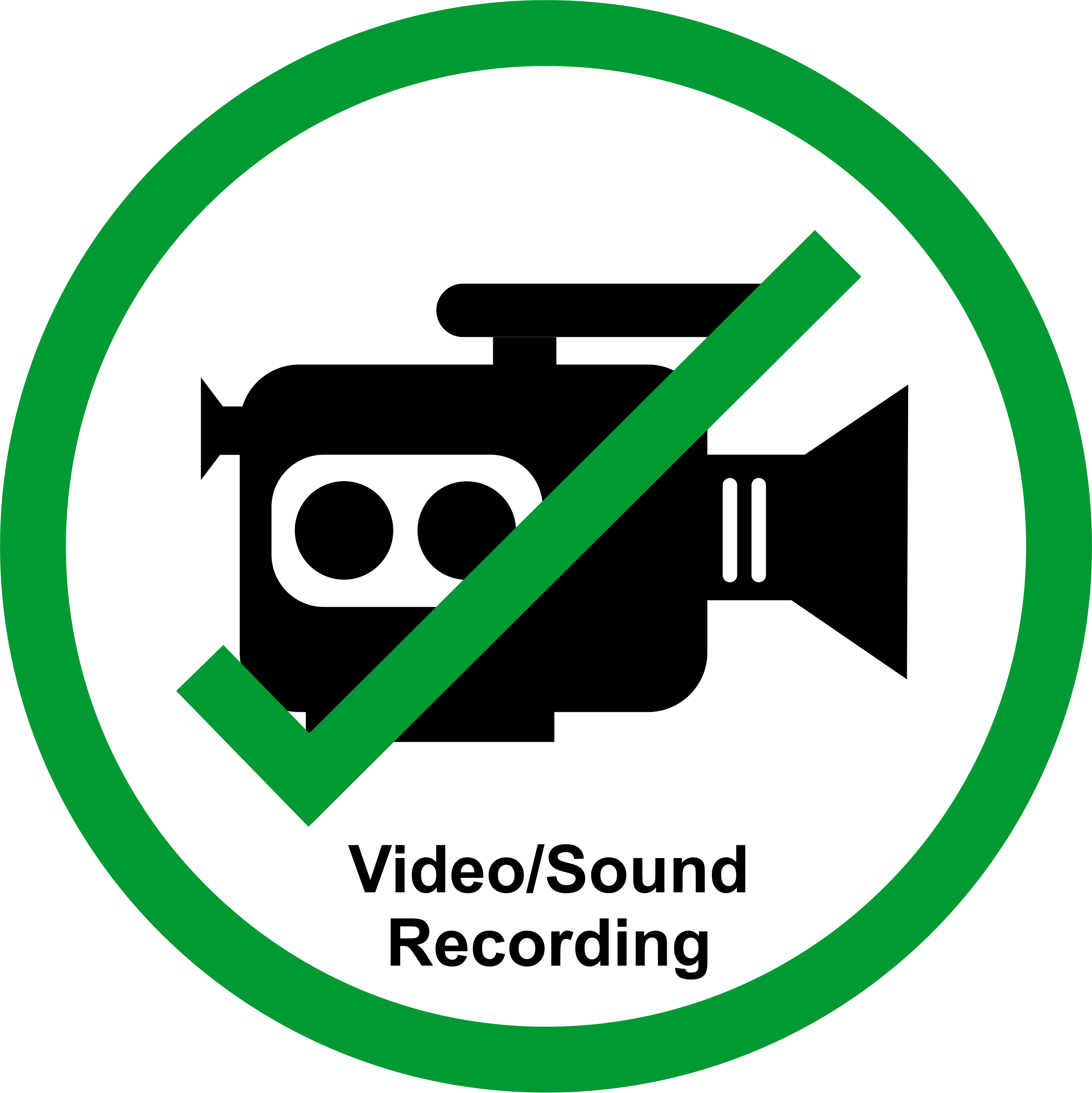 Recording sign png. Permission signs for talks