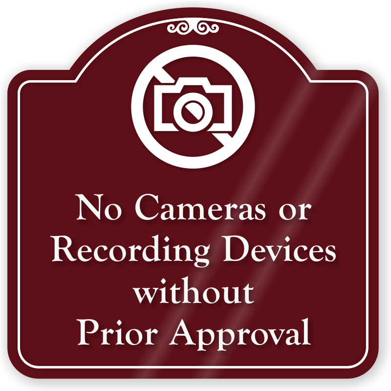 Recording sign png. No cameras or devices