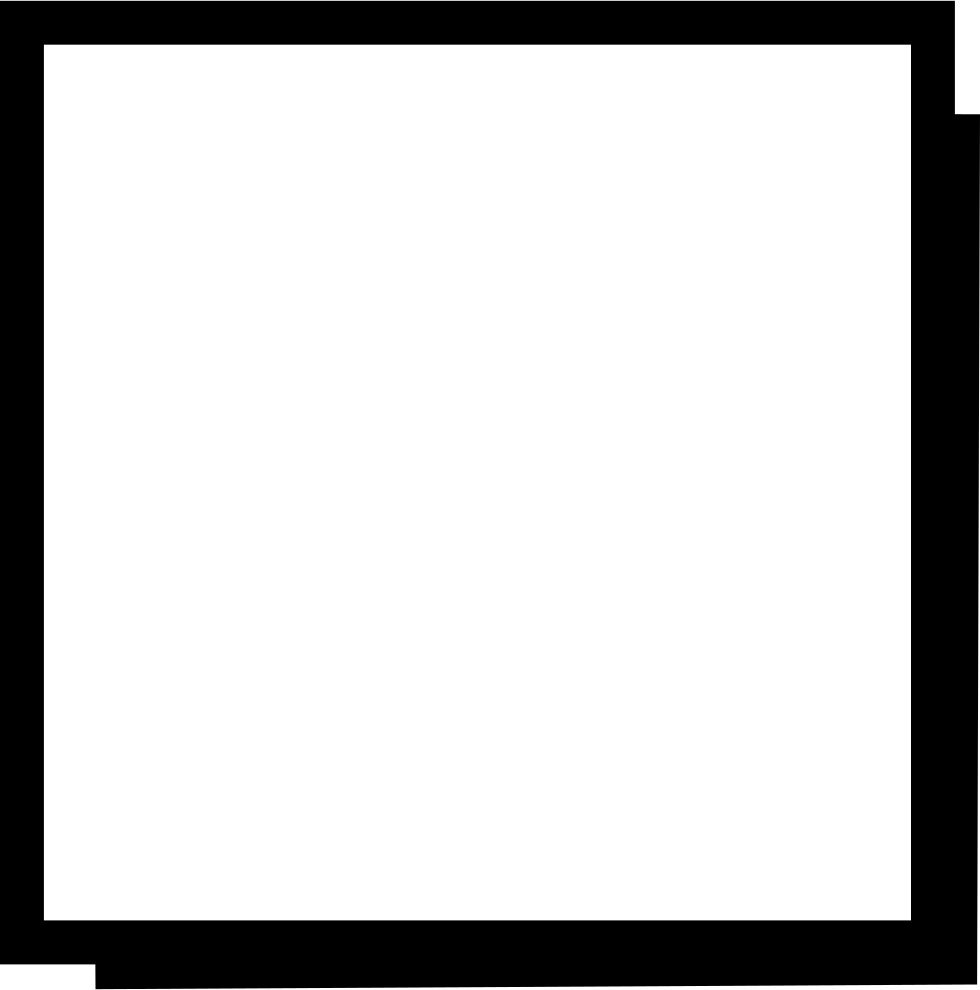 Check svg icon free. Rectangle box png picture black and white library