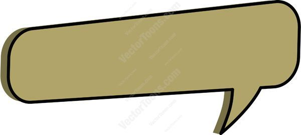 Rectangle clipart speech bubble. Light brown rounded corner