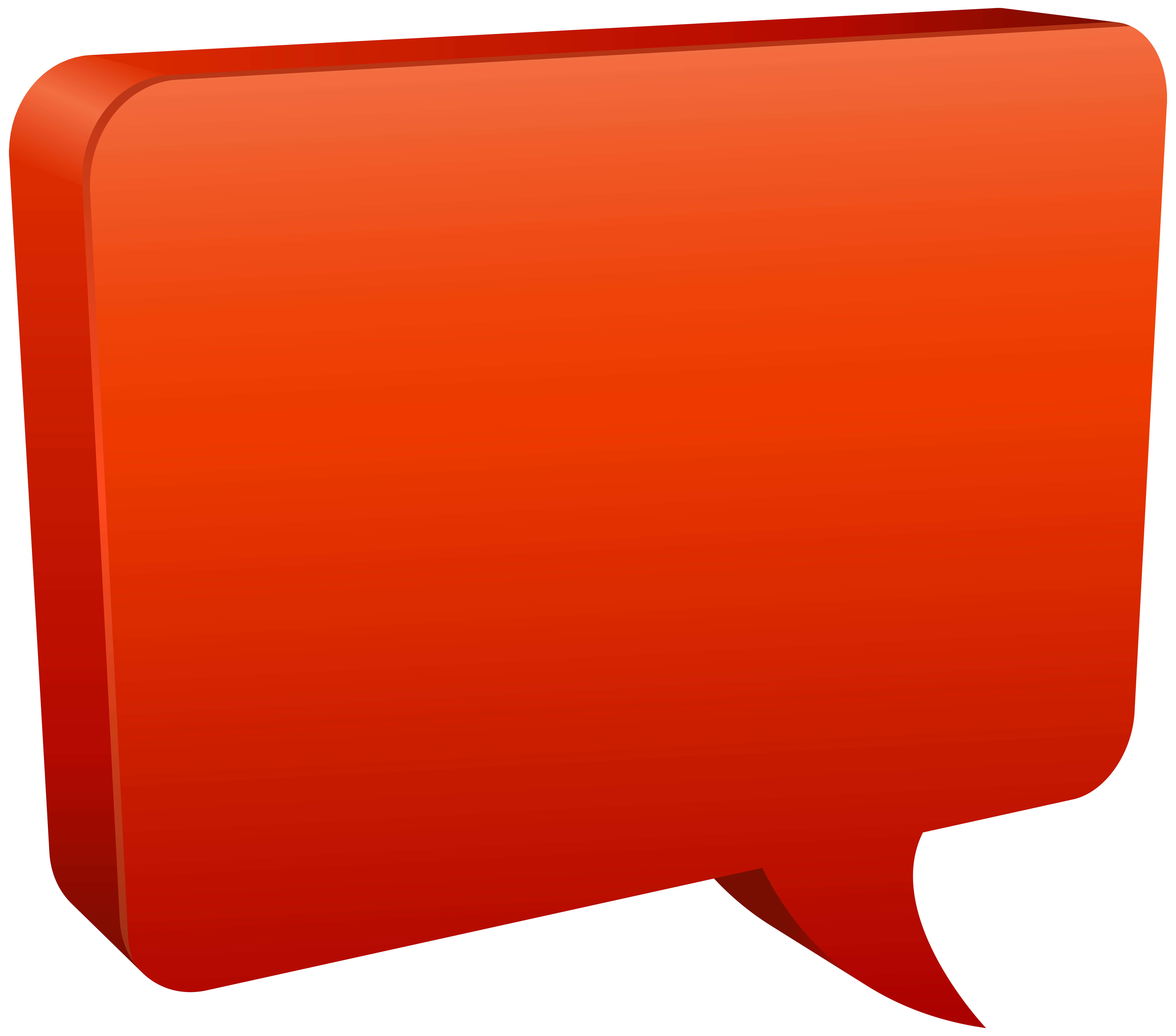 Rectangle clipart speech bubble. Red png clip art