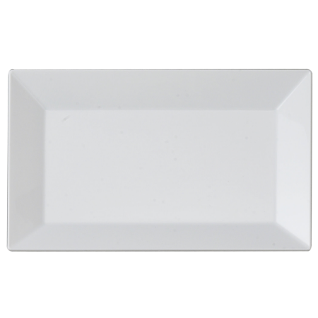 Rectangle dinner plate png. Kaya collection white plastic