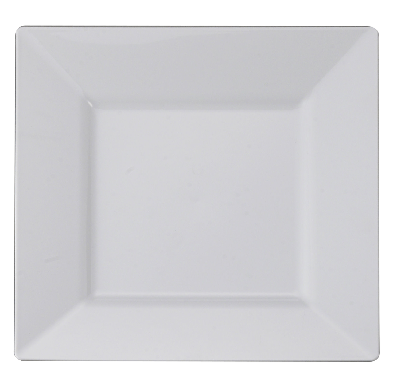 Rectangle dinner plate png. White square plastic