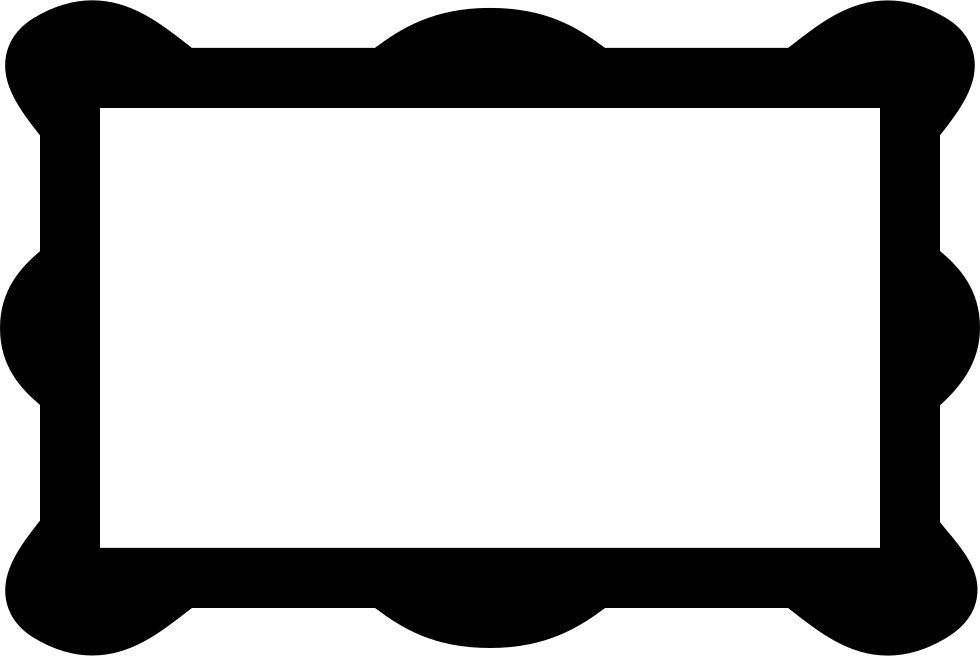 Rectangular frame png. With rounded corners svg