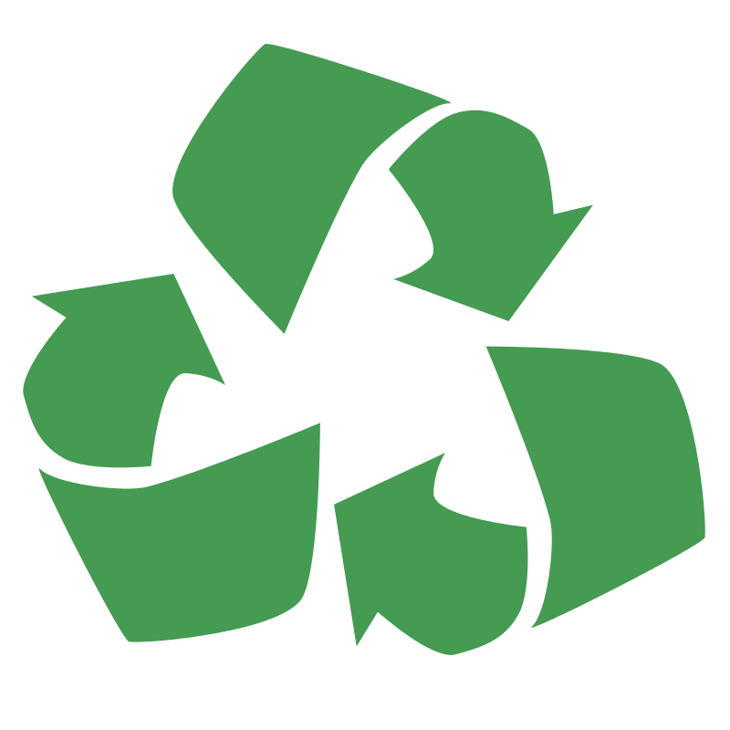 Environnemental. Recycle logo clipart