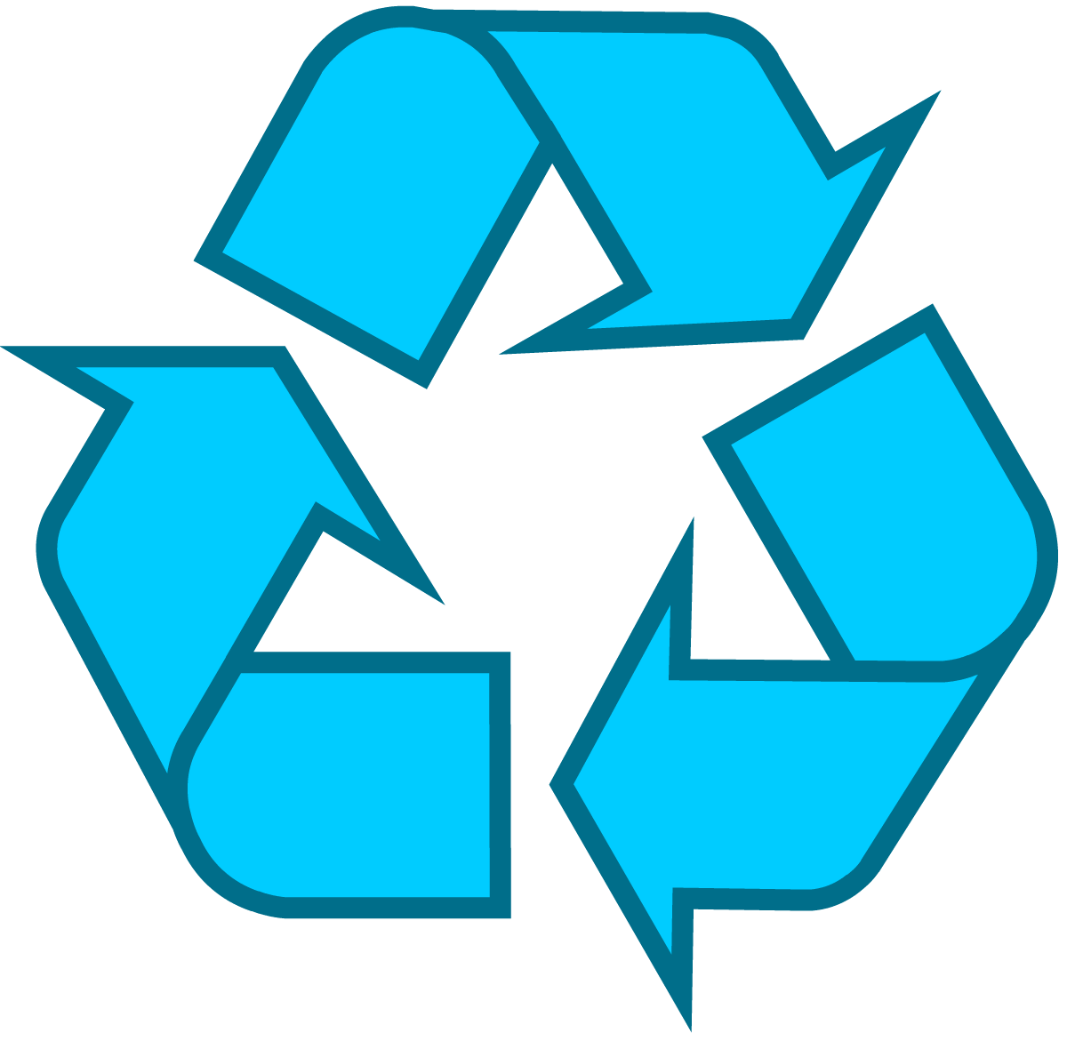 W transparent blue. Download recycling symbol the