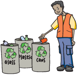 Recycle clipart proper throwing garbage. Green myth ii recycling