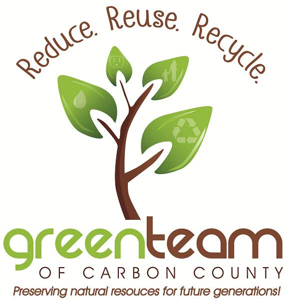 Recycle clipart green team. Carbon county encourages recycling