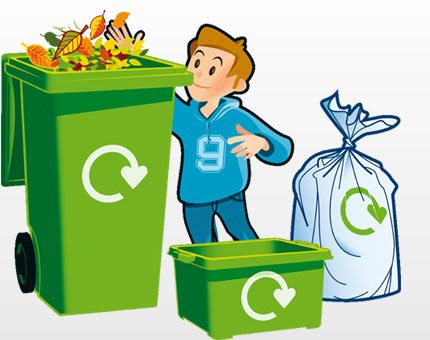 recycle clipart proper throwing garbage