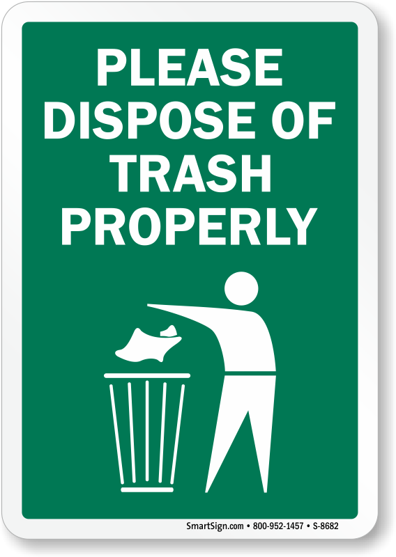 Recycle clipart proper throwing garbage. Dispose of trash properly