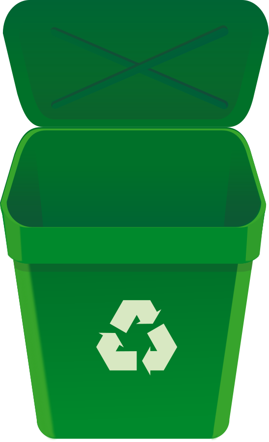 Trashcan clipart blue bin. Free recycle download clip
