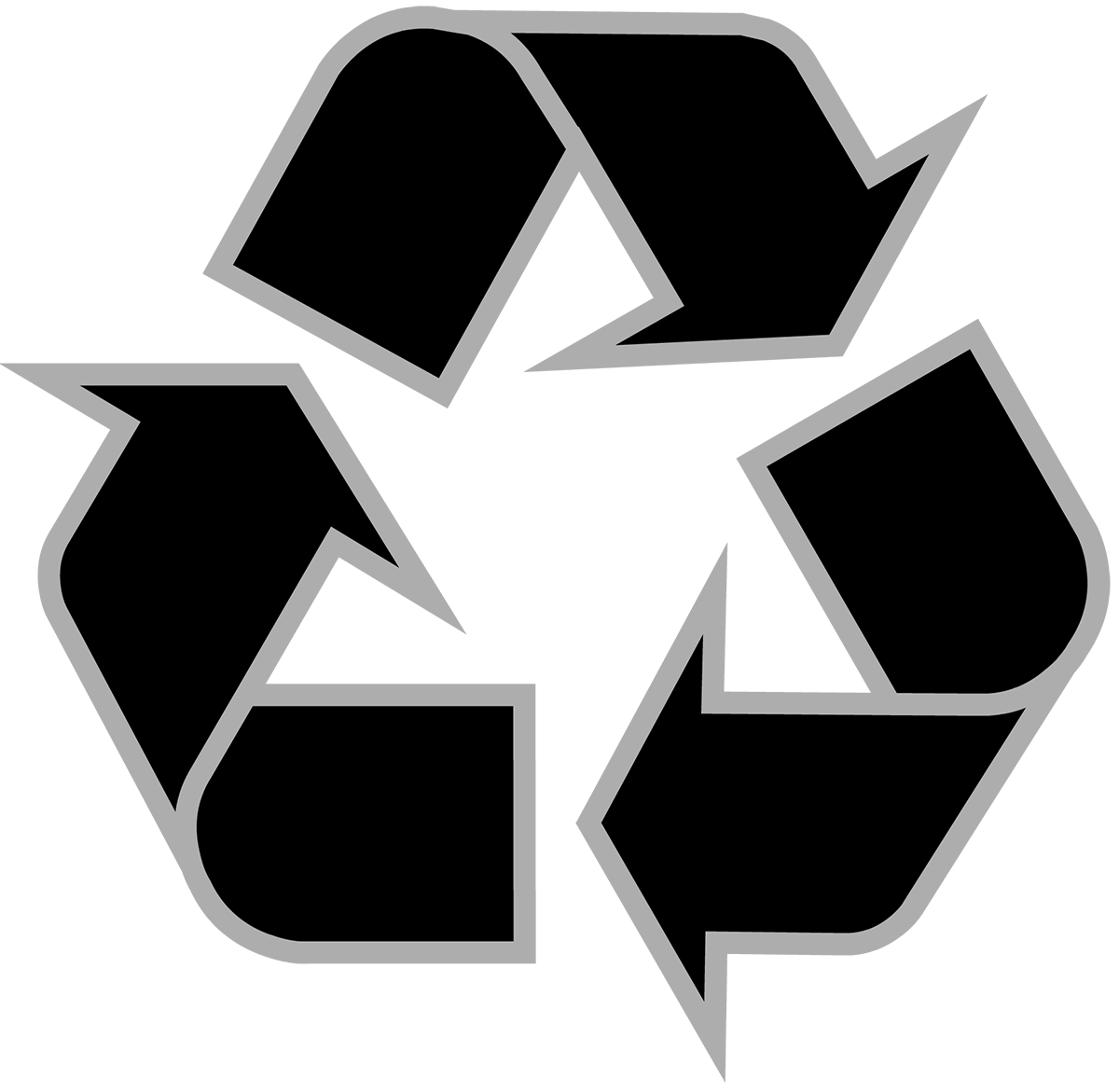 Recycle logo vector png. Download recycling symbol the