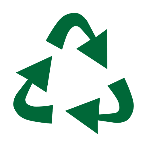 Vector factory recycling. Symbol triangle svg transparent