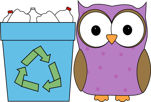 Recycling clipart in school. Owl classroom recycler clip