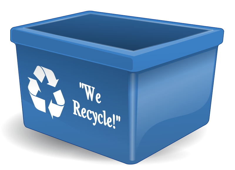 Recycling clipart recycling box. Free clip art empty