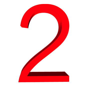 Red 2 png. Number images free download