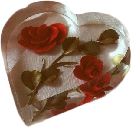 Red aesthetic png. Download transparent heart rose